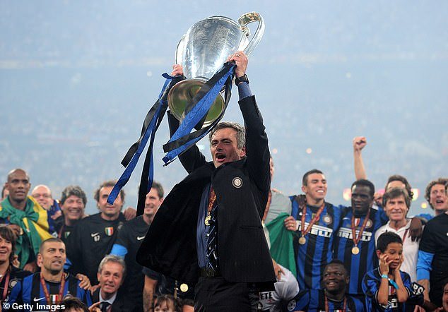 Jose Mourinho won the second of his Champions League trophies at Inter Milan in 2010