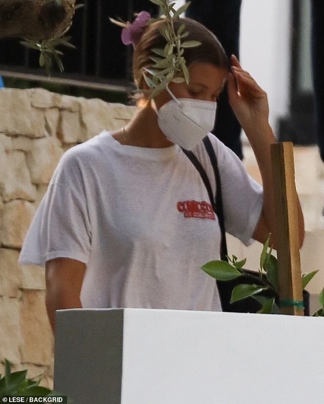 Checking it out: Sofia Richie and her beau Elliot Grainge were spotted spending time together during a visit to an open house in Los Angeles on Wednesday afternoon