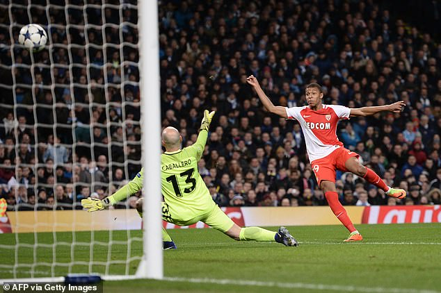 Monaco youngster Kylian Mbappe fires past Willy Caballero at the Etihad in 2017