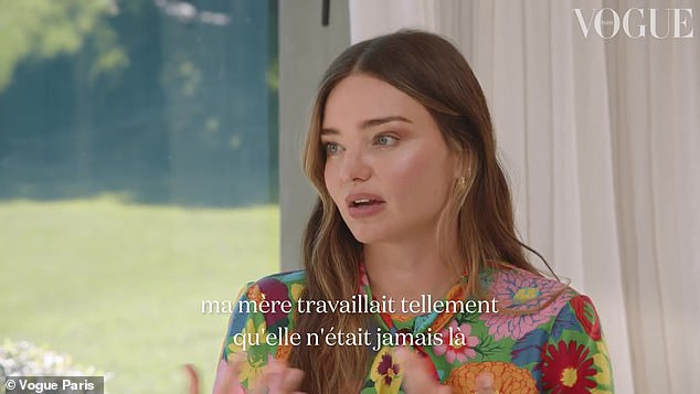 Florals: Miranda looked stunning in a flowery blouse as she spoke with Kourtney for Vogue Paris
