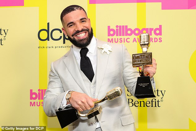 He did well, as well: Drake also landed five nods; seen in May at the Billboard Awards
