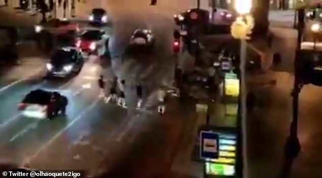 A number of fans were involved in clashes in Porto on Thursday night when the bars closed