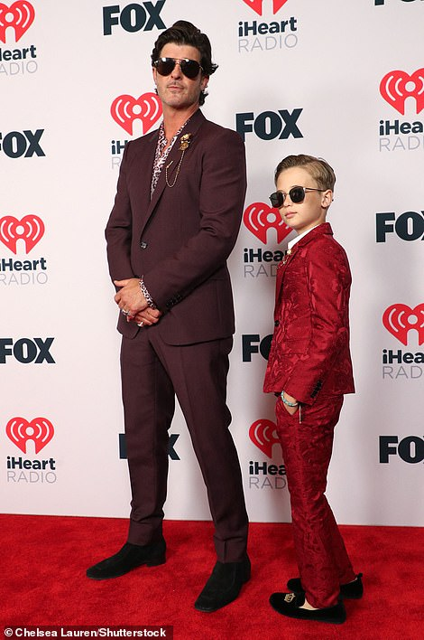 Dad mode: Robin Thicke was in dad mode as he suited up for the red carpet with his darling 10-year-old son Julien