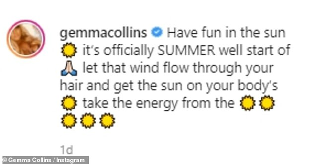 Ready for summer:The self-proclaimed diva also shared a positive message to her fans as she counted down the days to summer
