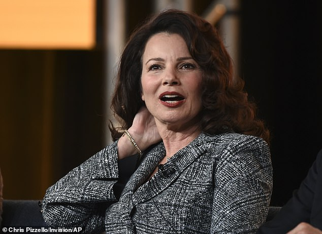 Could work:'There's a couple of ideas I've heard floating around. One of them that she's come up with is a little bit of genius,' he said. 'If it can be pulled together, and there's a lot of different strands involved then I could absolutely see it working.' Pictured:Fran Drescher in 2020