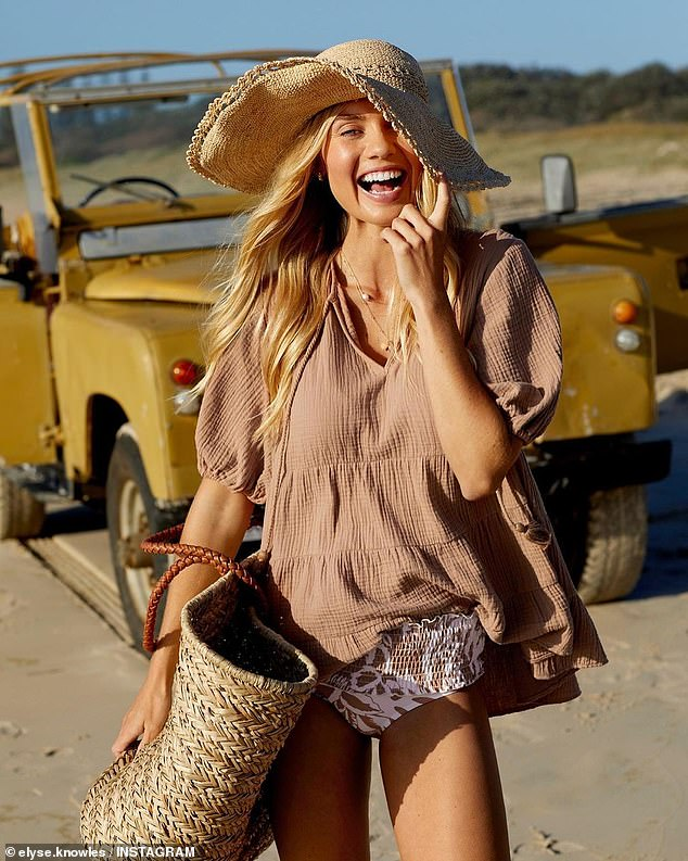 Foreign: Elyse also fronted Seed Heritage's summer campaign, which like Seafolly is an Australian-owned brand that manufactures products in China