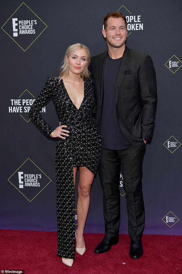 Contentious relationship: Cassie won season 23 of The Bachelor with suitor Colton Underwood, but she accused him of stalking her after their May 2020 breakup. He later came out as gay in April; seen in 2019