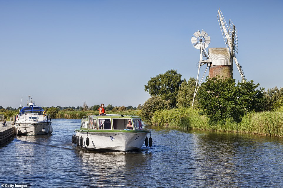 The Norfolk Broads are England's classic boating country, which can properly be explored only from the water