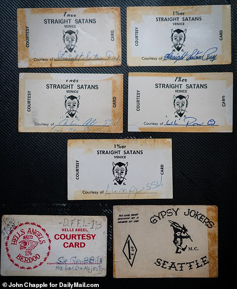 Outlaw motorcycle club courtesy cards