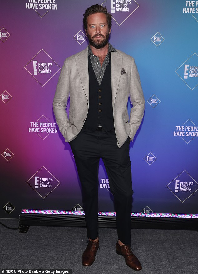 Taking over: Teller replaced troubled actor Armie Hammer, who exited the project earlier this year due to allegations of sexual misconduct; he is pictured in 2020