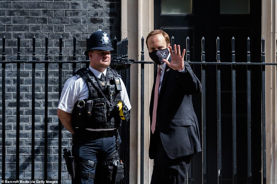 Health Secretary Matt Hancock, pictured arriving at Downing Street, last night announced that the Indian Covid variant now makes up between half and three quarters of all cases in the UK.