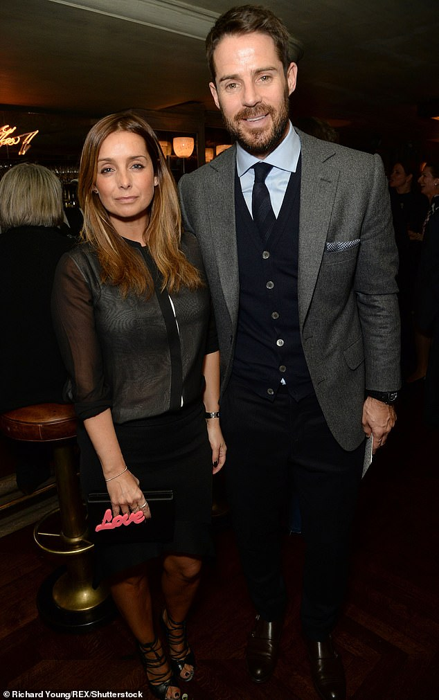 Wise words: Ulrika said, 'I hope Louise and all the other divorcees out there, male and female, can unchain and emancipate themselves, believe their divorce is their past' (Louise and Jamie pictured in 2016)