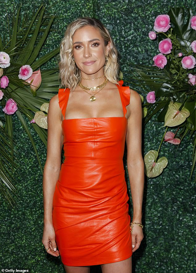 Reality royalty: Since getting her start on Laguna Beach when she was just in high school, Kristin has continued to make a name for herself as an entrepreneur and fashion correspondent; pictured March 2020