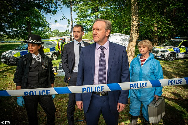 Exciting times: The presenter was offered a cameo role in the ITV murder mystery series earlier this year