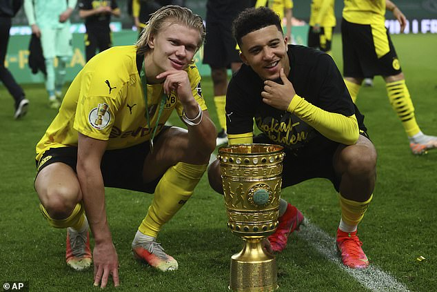 Manchester United would prefer to sign Sancho's team-mate Erling Haaland than Harry Kane