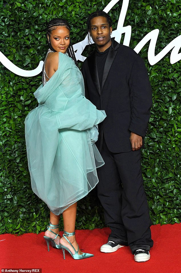 She found love: Rihanna has been keeping a low profile lately, but her relationship with rapper A$AP Rocky has been heating up. He recently told GQ she was the 'love of [his] life'; seen together in 2019 in London