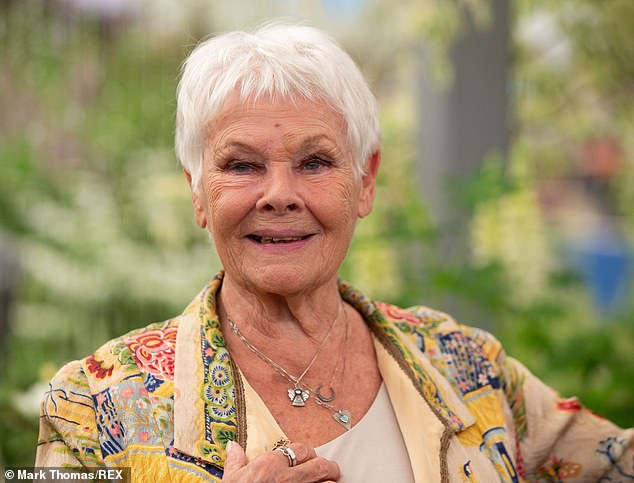 'I don't want to be caught at it!' Dame Judi Dench, 86, revealed in a podcast on Wednesday that she swims naked in her pool when she's alone and claimed skinny dipping is 'just heaven'