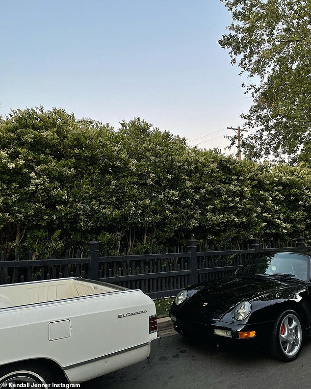 Cool cars: Jenner shared a snap of her cool car collection