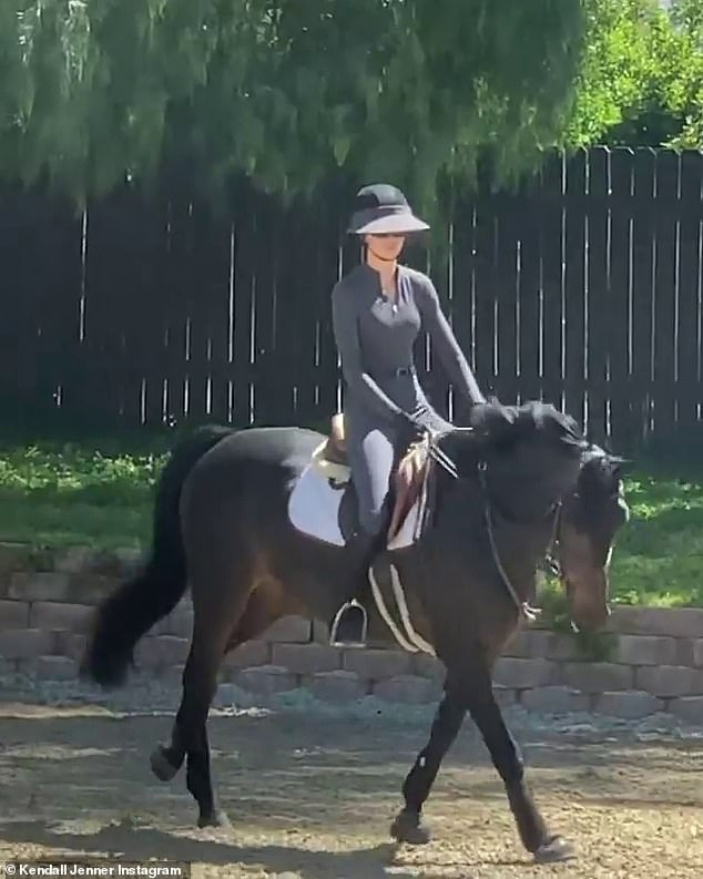 Horseback riding: Jenner shared footage from a recent ride on one of her horses