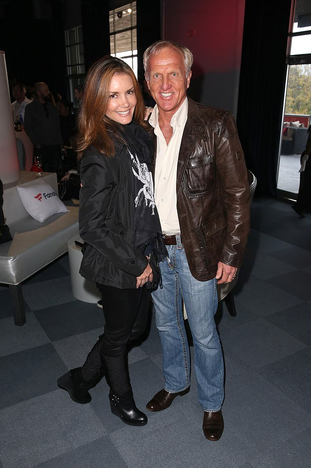 Golf legend Greg Norman (pictured, with partner Kirsten Kutner) has revealed he hopes to live out the rest of his days in Australia and die in his home country as he makes plans to leave the United States