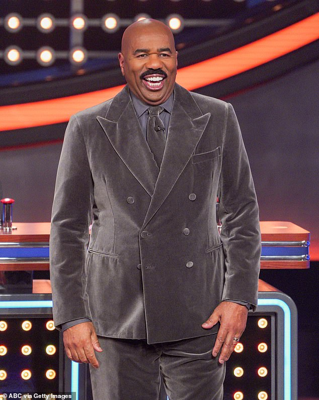 Daddy dearest: The slanderous verses seemed to be sparked in part by an interview Steve Harvey had with Jimmy Kimmel in which he dished on her love life and joked that before Michael he had 'pure hatred,' for her boyfriends