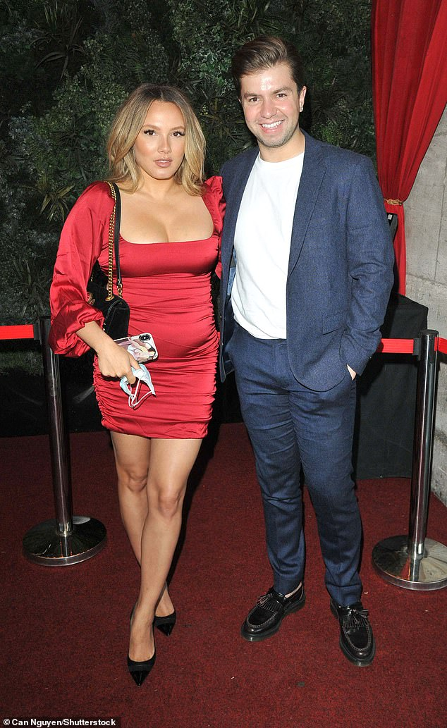 Couple:Sonny Jay looked in good spirits as he attended Denise Van Outen's cabaret show at Proud Embankment with his fiancée Lauren Faith on Saturday