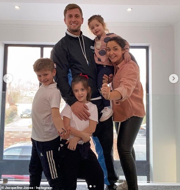 New pad:The actress has been transforming her 'forever home' in Essex with Dan after recently moving into the property with their daughters Ella, six, and Mia, two