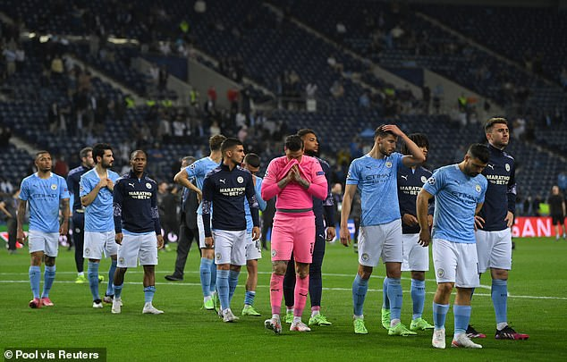 Pep Guardiola's side were left dejected after losing 1-0 to Chelsea in the final in Porto