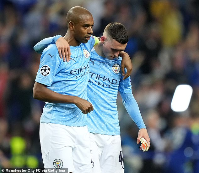 Fernandinho (left), Phil Foden (right) and Co. were unable to follow up their Premier League and Carabao Cup success this season