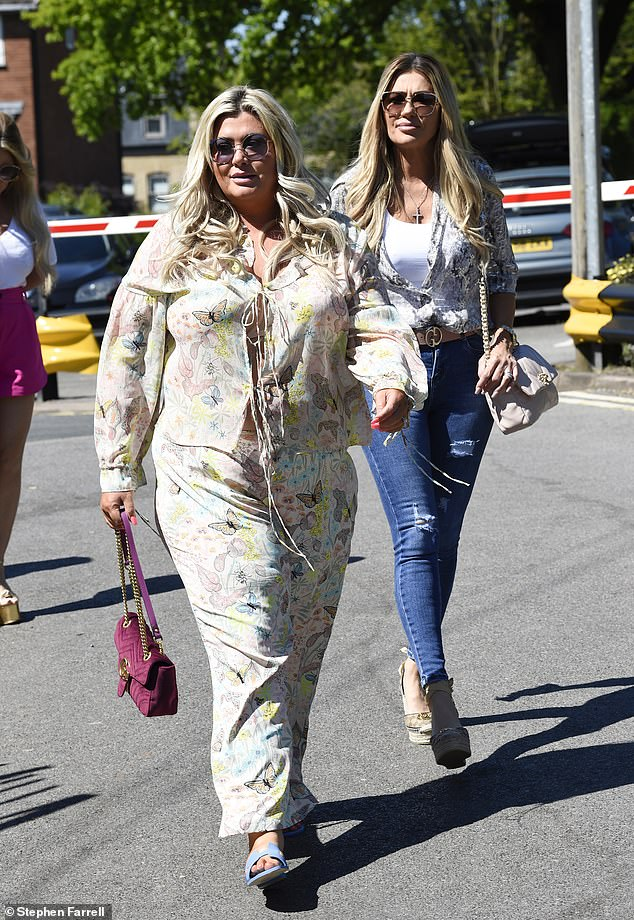 Lunchtime!Gemma Collins showed off her curves in a flowing flowery dress as she headed out for lunch with The Real Housewives of Cheshire's Dawn Ward and Nicole Sealey