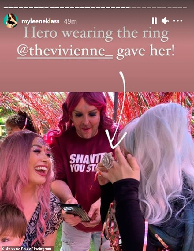 Gifts:Bimini wasn't the only queen to wish Hero well, as Myleene revealed that RuPaul's Drag Race UK season one winner The Vivienne also gifted her a ring