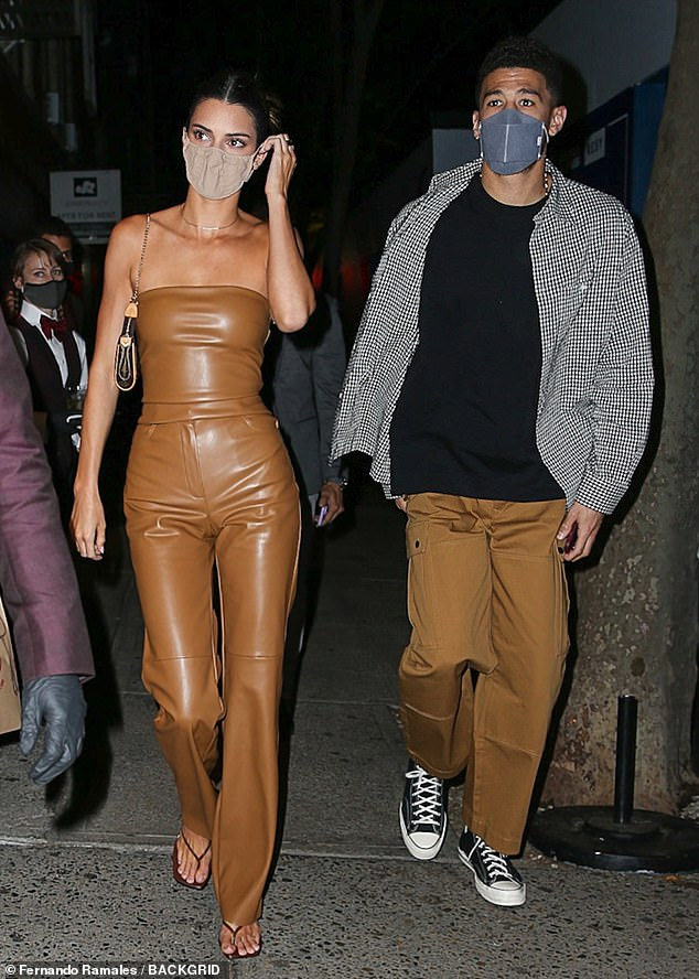 Love is in the air! Kendall and Devin were first linked over a year ago while on a road trip to Arizona at the start of the pandemic (pictured in New York in April 2021)