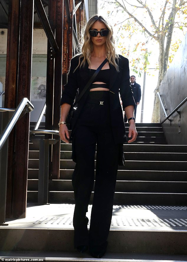 Family: Candice was every inch the fashionista at the event. She shares three daughters with cricket star husband David: Ivy, six, Indi, five, and Isla, one