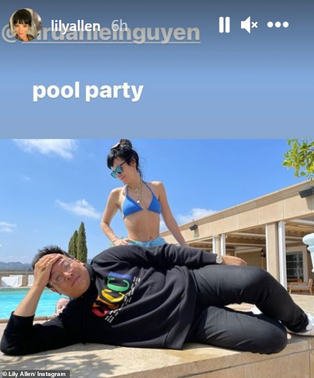 Radiant: Lily Allen showed off the results of her lifestyle overhaul as she posed for a stunning bikini snap she shared on Sunday