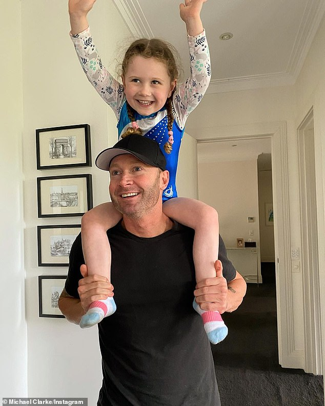 Priorities:Michael and Kyly separated in September 2019, but only revealed their split in a surprise announcement on February 12, 2020.In an official statement at the time, the Clarkes said the 'amicable' decision to separate was 'the best course' for their daughter (pictured)