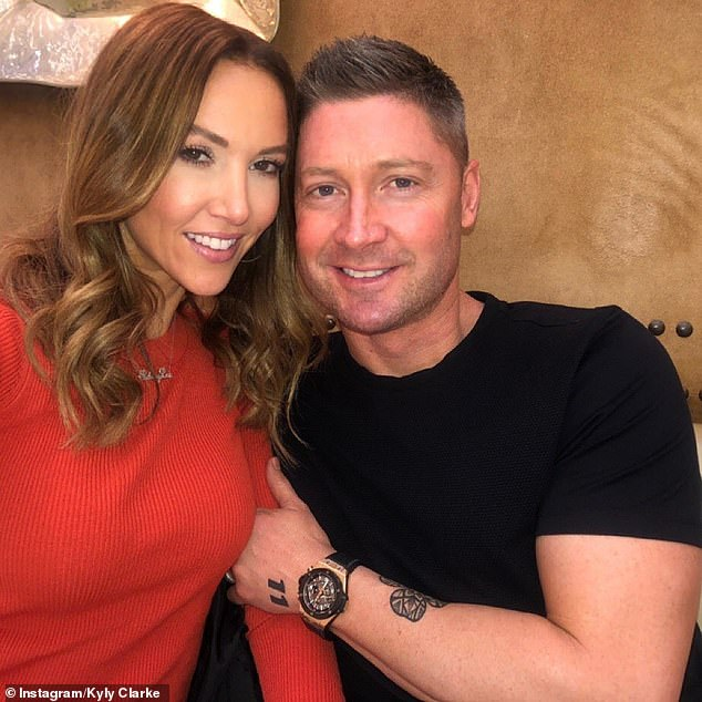 Comfortable with one another: An onlooker told Daily Mail Australia that Kyly and Michael were 'quite affectionate' once they were inside their car after a grocery shopping trip