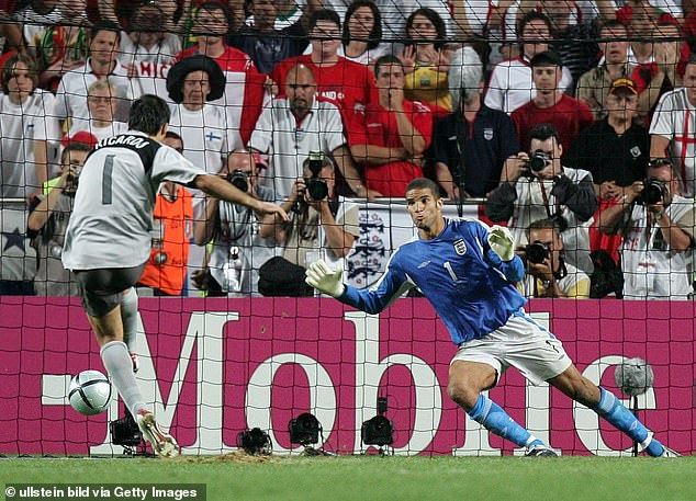 England crashed out of the Euro 2004 quarter-finals as Portugal won their penalty shootout