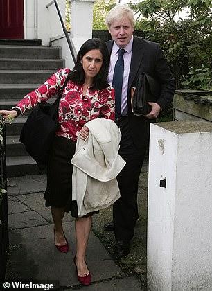 Boris Johnson and second wife Marina Wheeler in 2008