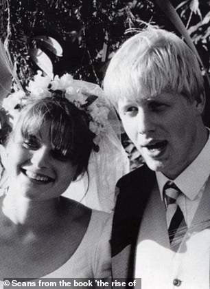 Boris Johnson and his first wife Allegra Mostyn-Owen on their wedding day on September 5 1987