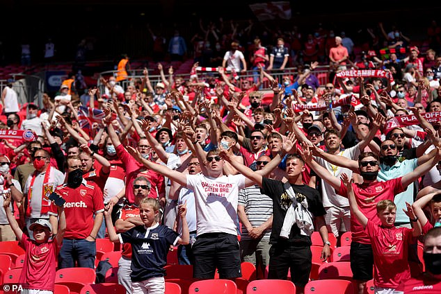 Fans were once again welcomed into Wembley as fans from both sides showed their support
