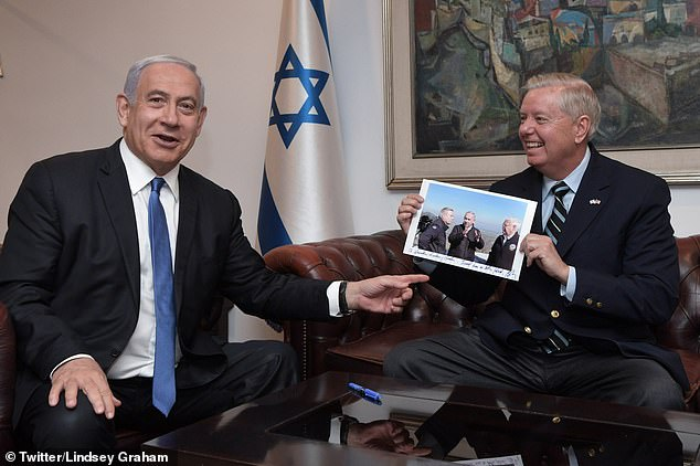 Graham and Netanyahu held talks as the Israeli PM faced an ousting after 12 years in office from a left-wing coalition