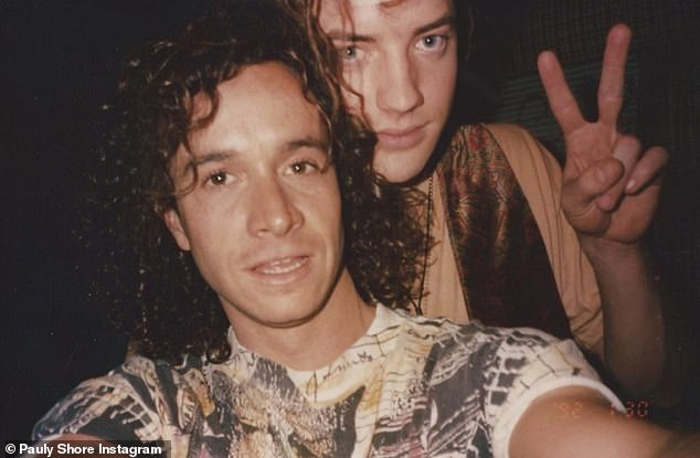 Good times: Pauly Shore shared a throwback photo to his Instagram account on Saturday and expressed that he and Brendan Fraser were 'ready' to film a sequel to Encino Man