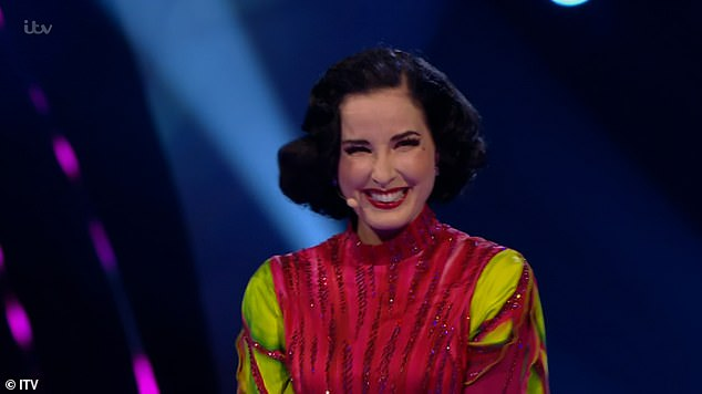 Amazing:It comes after Dita Von Teese was unmasked as Beetroot on Monday night's edition of The Masked Dancer as she joked she would rather be 'taking her clothes off' on stage