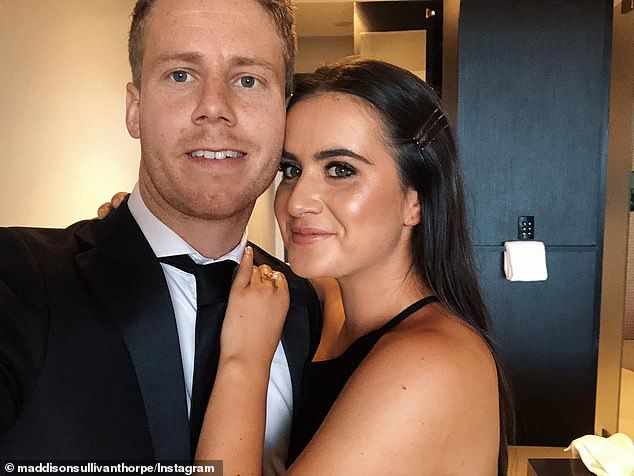 Ms Sullivan-Thorpe's outrage comes 14 months after her footballer high school sweetheart was fined for breaching Melbourne's Covid restrictions during his state's first lockdown