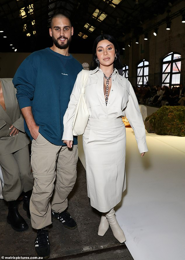 Style queen: Despite her eye-popping display, Martha nonetheless looked chic in her oversized shirt and matching skirt co-ord