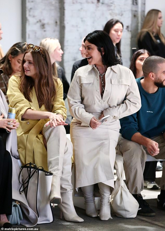 Star: Martha and Michael were later seen sitting in the front row for the catwalk showcase