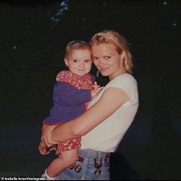 Bella:Her daughter Isabella Israel also shared several throwback snaps with a much longer message in tribute to her mother