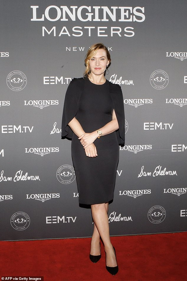 Showing less: Winslet, who turns 46 in four months, also noted her 'days are getting a little bit numbered of doing nudity' (pictured in 2018)