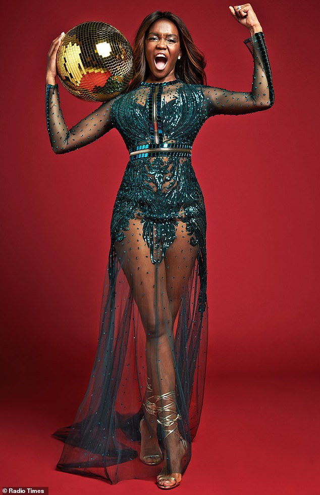 Cheers!Oti Mabuse graced a special issue of Radio Times in stunning style to tease Sunday night's BAFTAs