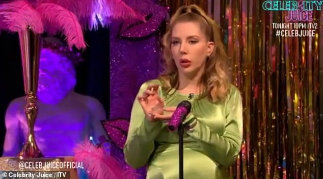 Keeping it secret: Katherine did not discuss her pregnancy during her appearance on Celebrity Juice